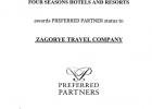 Компания «Загорье» получила подтвержденный статус Four Seasons Preferred Partner